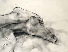 """phillipdvorak: """"Untitled (Jessica's feet), charcoal on paper, 9.5/12.5 inches. 2018 Find more drawings at: www.etsy.com/shop/phillipdvorak """""""
