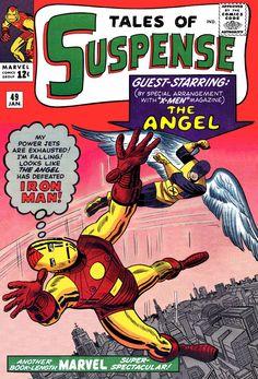 Tales of Suspense Iron Man featuring X-Men's Angel, Art: Jack Kirby marvel comics cover Marvel Comics Superheroes, Marvel Comic Books, Comic Book Characters, Comic Character, Comic Books Art, Book Art, Marvel Avengers, Silver Age Comics, Vintage Comic Books