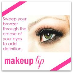 sweep bronzer to the eye crease to add definition