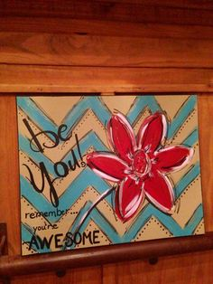 BE YOU handpainted canvas inspirational art by DesignsbyDarlaT