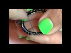 Haute Hoop Earrings; Kelly is the very best beading teacher on youtube. She goes at a pace easy for anyone to follow!