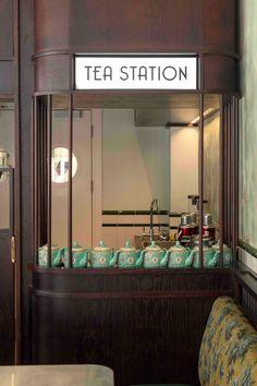 Wun's Tea Room brings late night Hong Kong to London Cafe Bar, Cafe Restaurant, Restaurant Design, Tea Cafe, Architecture Restaurant, Tea Station, Coffee Shop Design, Hospitality Design, Commercial Interiors
