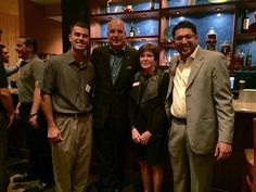 Elevate Inc. President Aakash Patel, The University of Tampa President, Renee Vaughn and Macdill Air Force Base, Florida Colonel at Carmel Kitchen & Wine Bar South Tampa! #TampaHasSwagger