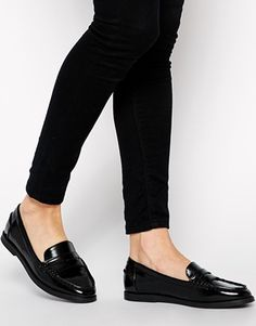 ASOS MINKIE Loafers - a great shiny black penny loafer... (price: 50.00)
