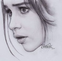 Realistic Portrait Drawing Portrait drawing by Anindito Wisnu Pencil Portrait Drawing, Pencil Sketch Drawing, Pencil Art Drawings, Art Drawings Sketches, Portrait Art, Face Drawings, Girl Drawings, Face Sketch, Amazing Drawings