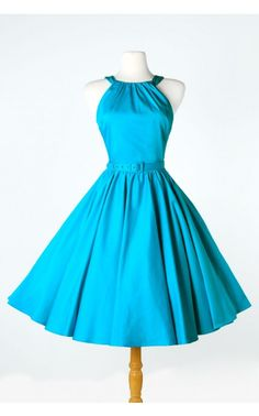 Pinup Couture- Harley Dress in Bright Blue - Plus Size | Pinup Girl Clothing