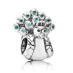 Pandora Black Friday 2015 Silver Peacock Charm Clearance Deals PDR781370CZ