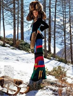 "Duchess Dior: ""Sacred Tribes of Mont Cervin"" by Giampaolo Sgura for Vogue Japan October 2015"