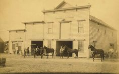 City of Norwalk, California - City Hall Livery stable and saloon in the early 1880's, located on San Antonio Drive south of the Southern Pacific Railroad tracks.
