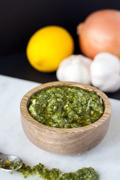 Cuban Style Chimichurri Sauce - a garlicky, fresh-flavored condiment perfect to have on hand for a variety of dishes. Easy to make at home in 5 minutes Healthy Dips, Healthy Recipes, Yummy Recipes, Healthy Eating, Chimichurri Sauce Recipe, New Orleans Recipes, Cuban Recipes, Hawaiian Recipes, Colombian Food