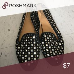 Studded Loafers Backs folded down a bit - reflected in price. Missing a couple studs. Make an offer. Donating soon. J. Crew Shoes Flats & Loafers
