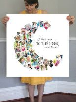 Love You To The Moon & Back! Wall Art Prints by Chasity Smith | Minted