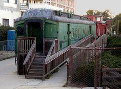 converted train car