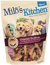 Milo/'S Kitchen Chicken Grillers Recipe Dog Treats 15-Ounce