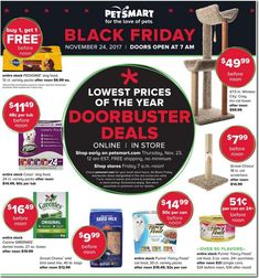 PetSmart Black Friday 2017 Ads and Deals Treat your pet to the holiday season it has always wanted and shop PetSmart Black Friday for the huge deals and sales on top pet products. Black Friday 2017 Ads, Best Black Friday, Xl Dog Beds, Pedigree Dog Food, Purina Friskies, Dog Pads, Dog Food Recipes, Your Pet, Pet Products