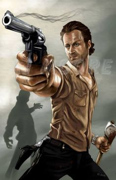 RICK GRIMES ~ BY AJ MOORE / WHERE CAN I FIND THIS AJ MOORE ?  I WANT TO BUY SOME ART FROM HIM.  INCREDIBLE TALENT.