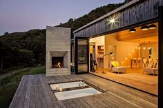 New Zealand's backcountry huts inspired this breezy, open home - Curbed