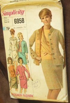 Simplicity 6958 1960 Suit Vintage Designer Pattern by EmSewCrazy, bought today for 12 cents sw