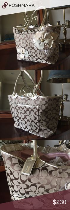 👜🌼100%Authentic gorgeous Couch bag🌼💐 Like new! No signs of wearing! Rare coach bag ! With Authentic card ! Coach Bags Shoulder Bags