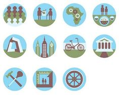 Nice collection of pictograms for magazines by Jason Hill