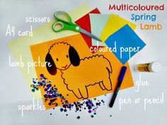 multicoloured spring lamb and another 10 simple kids crafts #crafts #kidscrafts #spring