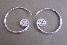 Rustique style Tribal argent Sterling boucles d'oreilles / silver925 / fait main bijoux. sur Etsy, $19.33 CAD