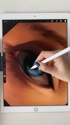 Digital Painting Tutorials, Digital Art Tutorial, Art Tutorials, Art Drawings Sketches Simple, Pencil Art Drawings, Digital Art Beginner, Ipad Art, Art Tips, Illustration