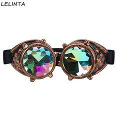 [EBay] 2017 Lelinta Vintage Style Colourful Lens Punk Glasses Kaleidoscope Rainbow Crystal Lenses Steampunk Goggles