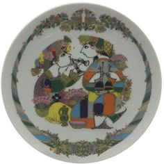 Rosenthal Germany Bjorn Wiinblad Plate ($85) ❤ liked on Polyvore featuring home, kitchen & dining, dinnerware, decorative plates, rosenthal plates, rosenthal dinnerware and rosenthal