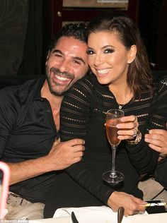 Here comes the bride: Eva is perhaps relaxing in Puerto Vallarta ahead of her big day which is reportedly taking place in Acapulco. The couple are pictured after their engagement in December