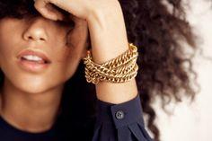 Braided Triple Chain Bracelet