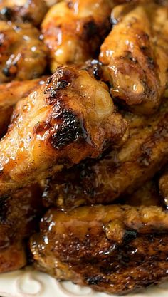 Honey Mustard Soy Glazed Chicken Wings / Tried 6-30-14, excellent! / made as writen, cooked a little less time based on my grill temp.