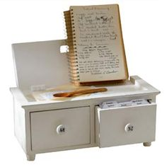 An actual recipe box for the kitchen. I'd love to have my recipes written down to pass along.