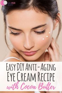 Worried that your age is showing in your eyes? This anti-aging eye cream can help with those wrinkles. It's great for dark circles, for puffiness, and is perfect for anyone in their 20s or 30s or more! All you need to know is that it's natural and can be easy and beneficial to try! Give your eyes their shine and sparkle again with this DIY eye cream recipe. #DIY #eyecream #antiaging #beauty #skincare #healthy #natural #DiyEyeCream Anti Aging Eye Cream, Anti Aging Skin Care, Tips For Oily Skin, Pure Beauty, Natural Beauty, Beauty Cream, Daily Beauty, Cream Recipes, Beauty Hacks