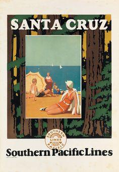 California - MICHEL KADY (1901-1977) SANTA CRUZ / SOUTHEN PACIFIC LINES. 1926.