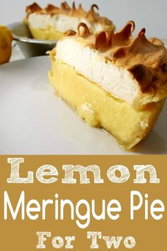 This Lemon Meringue Pie Small Batch recipe has a sweet and tart lemon custard filling topped with creamy lightly browned meringue in a homemade crust. This cute little delicious dessert serves Single Serve Desserts, Single Serving Recipes, Small Desserts, Mini Desserts, Just Desserts, Delicious Desserts, Belgian Desserts, Jello Desserts, Individual Desserts