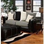 Chelsea Home Furniture - Verona Landon Idol Steel/Black Sofa - 6303-IS  SPECIAL PRICE: $659.00