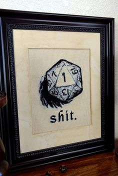 Critical Failure Cross Stitch Pattern Dungeons and Dragons Cross Stitch RPG Cross Stitch Modern Cross Stitch Fantasy Cross Stitch Modern Cross Stitch, Cross Stitch Designs, Cross Stitch Patterns, Dragon Cross Stitch, Fantasy Cross Stitch, Cross Stitching, Cross Stitch Embroidery, Embroidery Patterns, Hand Embroidery