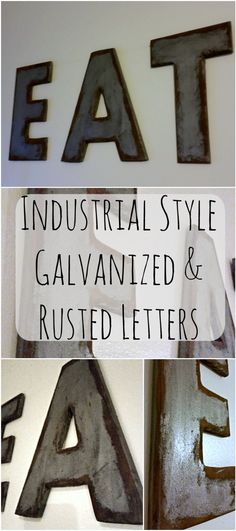 Industrial Style Galvanized & Rusted Letters - My Own Home