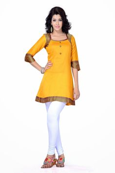 Exclusive Designer Yellow Traditional Kurti Rs.1553/-