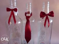 Zawieszki na alkohol butelkę wódkę krawat mucha podwiązka 0,40ł/szt Częstochowa - image 1