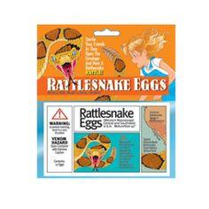 Fake rattlesnake eggs. Great gag gift / prank.