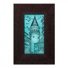 10X20 CM ÇİNİLİ ÇERÇEVE - Anikya Shop Tile Art, Istanbul, Stained Glass, Stained Glass Windows, Leaded Glass