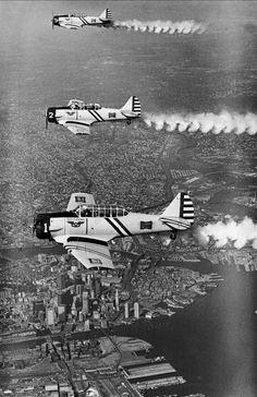 Skywriting Over Boston Harbor