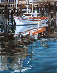 by Ray Hunter Watercolor Projects, Watercolor Artists, Watercolor Techniques, Watercolor Paintings, Sailboat Art, Nautical Art, Watercolor Water, Watercolor Landscape, Realism Art