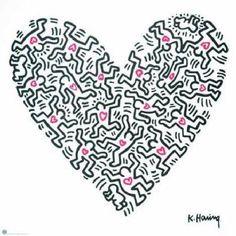 Keith Haring. Ganz getreu dem Motto: vom Museum ins Badezimmer! #LovePopDance