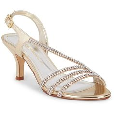 Caparros Bethany Studded Sandals ($79) ❤ liked on Polyvore featuring shoes, sandals, gold, ankle strap sandals, ankle tie sandals, ankle wrap sandals, strappy sandals and open toe shoes