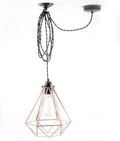Diamond_cage_ceiling _light_copper_black_twisted-2