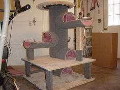 "diy cat tower | 52"" Cat Tree Condo - Scratchpost Pet House (beige) - $49.99 Shipped ..."