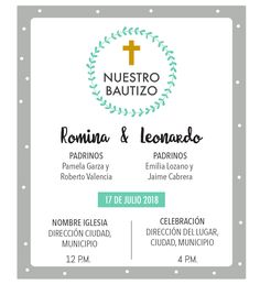 Gray Christening Invitation Design for Boy and Girl rnrnSource by tatinahg First Communion Party, Baptism Party, Baptism Ideas, Baby Shower Vintage, Baby Boy Shower, Baby Boy Baptism, Christening Invitations, Ideas Para Fiestas, Invitation Design
